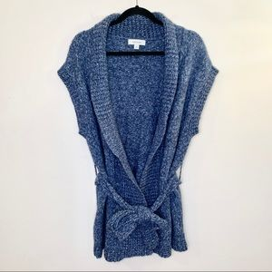 MERONA Chunky Knit Open Front Sweater with Belt